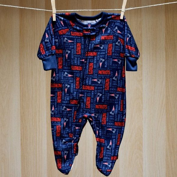 Patriots Baby Blanket Sleeper Coverall