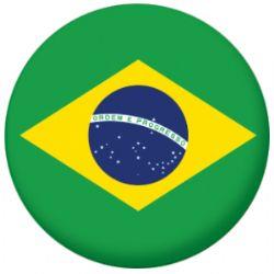 Brazil Country Flag 25mm Flat Back