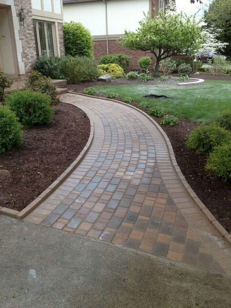 76+ Lovely Front Yard Pathway Landscaping Ideas – Gardenhouz