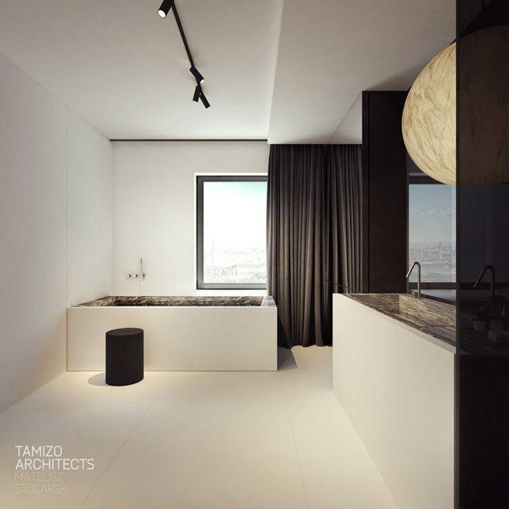 Интерьеры квартиры в Пиотркув.  Проект: tamizo архитекторы Мэтью Карпентер