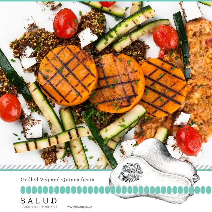 Grilled Veg and quinoa. Healthy prepared take home meals delivered to you.   www.salud.co.za