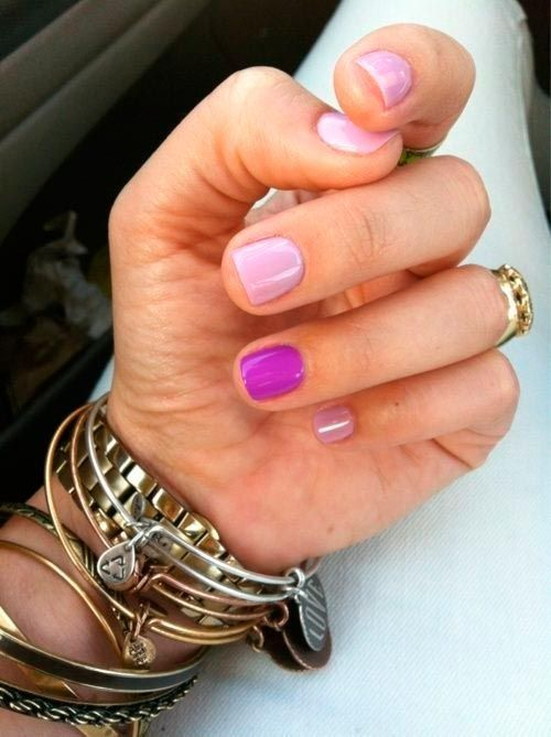 Nail Design Ideas For Short Nails neon green and gold nail design 15 Super Easy Nail Design Ideas For Short Nails