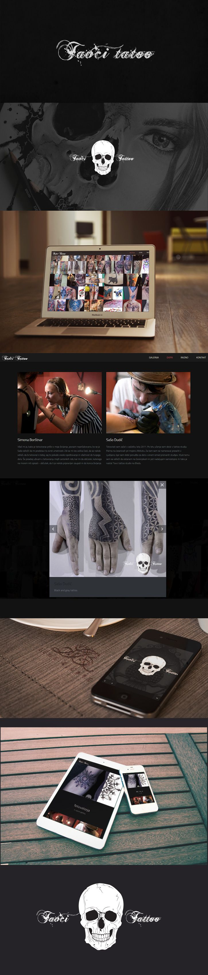 Redesign of the 2011 website of the renowned slovenian tattoo studio. http://www.tavci-tattoo.si/