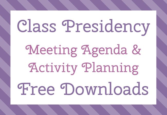 The Personal Progress Helper: Class Presidency Meeting Agenda & Activity Plannin...