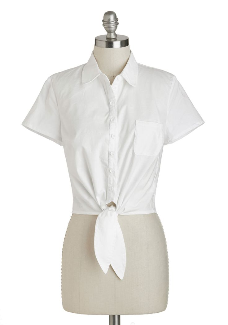 238 best style clothing images on pinterest for Cropped white collared shirt