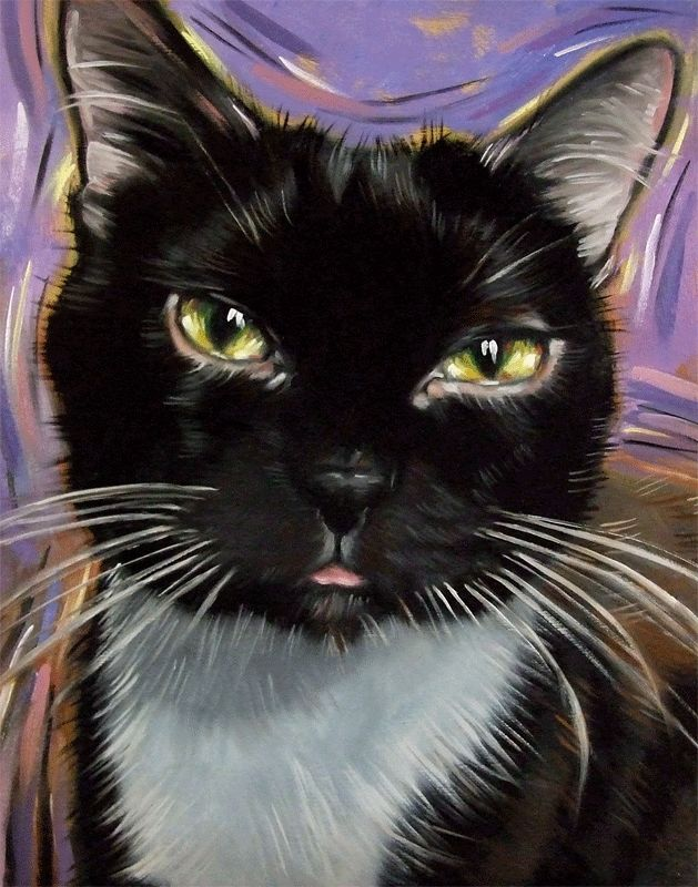 The Chocolate Cat Gaia painted by Diane Irvine Armitage