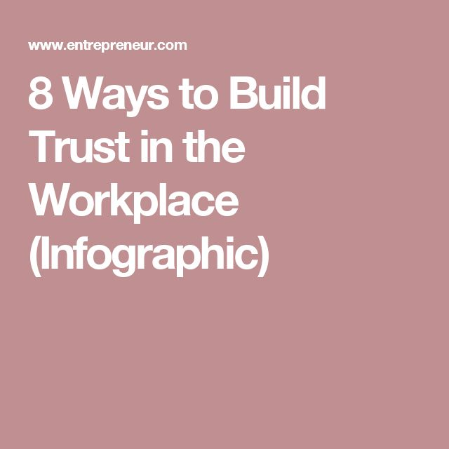 8 Ways to Build Trust in the Workplace (Infographic) Change - change management resume