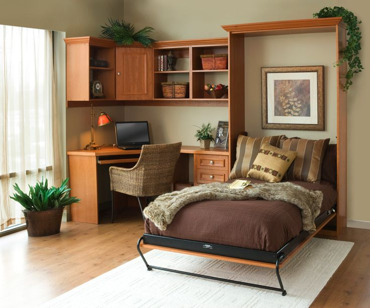 Single Murphy Bed with corner desk Perfect for an office Space