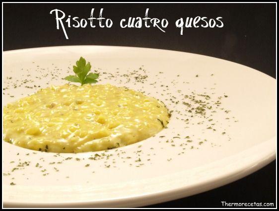 Risotto cuatro quesos. Especialidad italiana. #risotto #recetas #thermomix