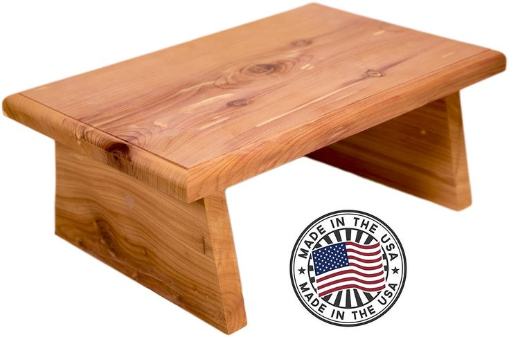 New Strong Wooden Small Wood Step Stool Made in USA! Made in America Hand Crafted Foot Stool Kitchen Stools Bed Steps small step ladder Bathroom Stools Made for Children and Adults Toddler Step Stool