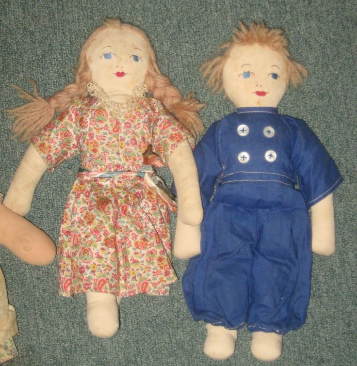 Vintage Pair of homemade cloth dolls | Dolls & Bears, Dolls, By Material | eBay!