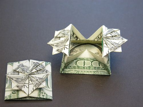 Dollar bill gift box