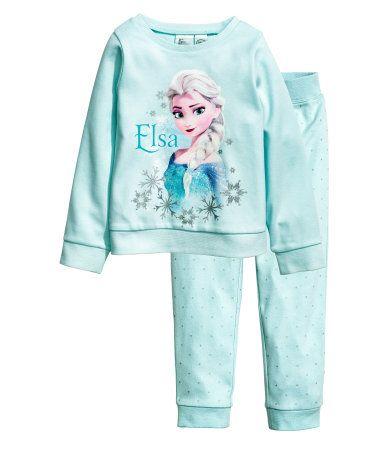 Tricot pyjama   Lichtturkoois/Frozen   Kinderen   H&M NL