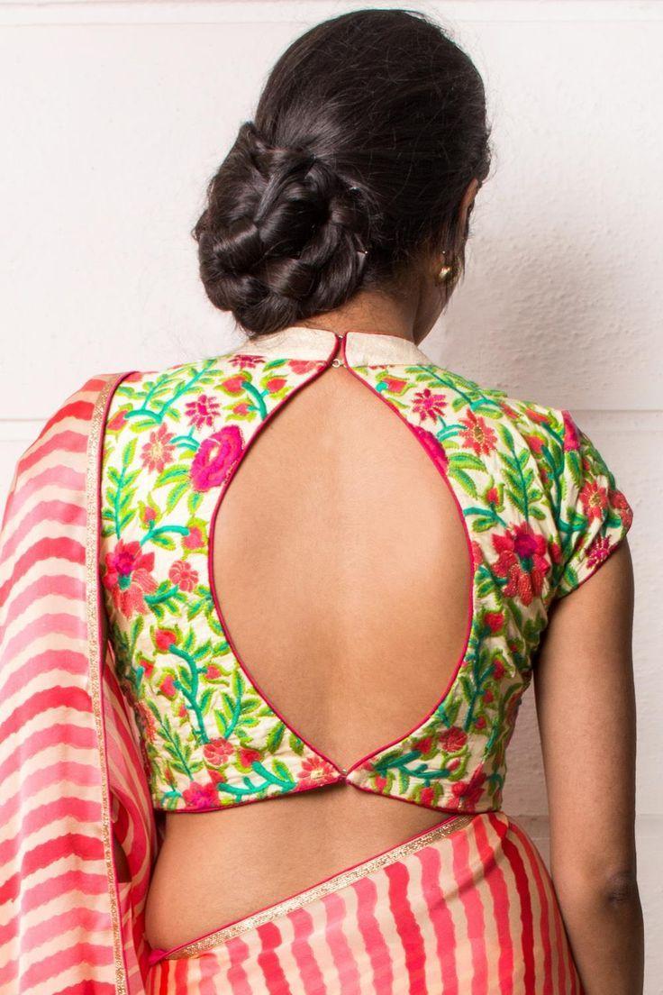 Blouse Back design.