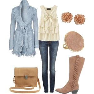 western outfits for women polyvore | Cute Country Spring Outfit