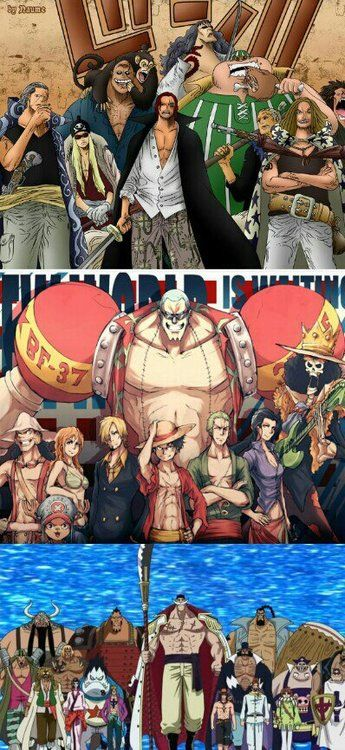 Red Hair Pirates. Strawhat Pirates. Whitebeard Pirates. | One Piece