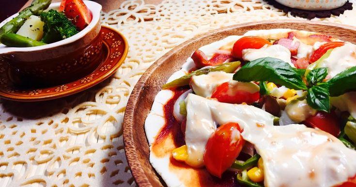 卵、乳、小麦不使用⭐️カリッと美味しい簡単クリスピーピザ。