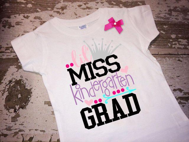 Lil Miss Kindergarten Grad Shirt with Bow