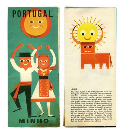 Tourism brochure, illustrated by Licínio, probably in early 1960s.