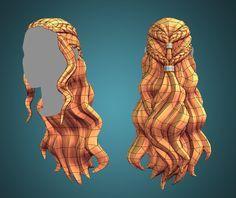 ArtStation - Plotagon Character Creator asset: hair, Josefine Behm