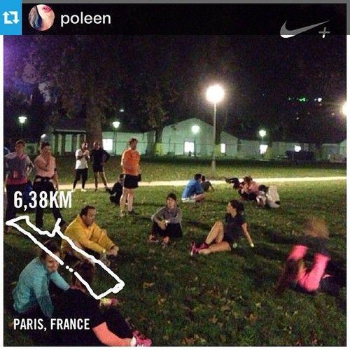 #Regram @poleen  #Boostbastille en pause au Parc de Bercy. Squats et abdos au programme… #nopainnogain #nevernotrunning #nikeplus