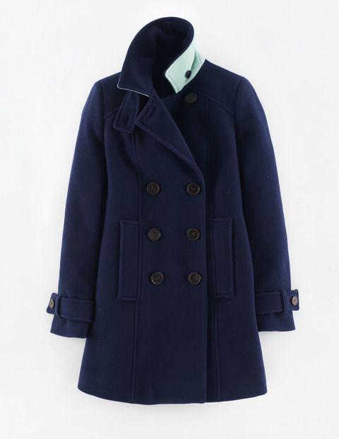 Ledbury Pea Coat WE500 Coats at Boden