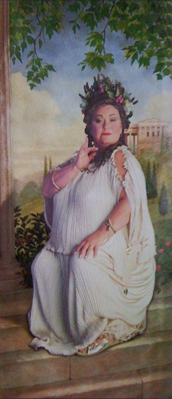 Fat lady portrait