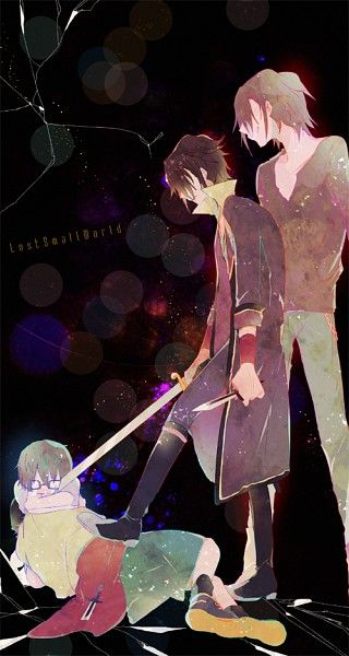 Tags: Dagger, Little Boy, Open Coat, K Project, Fushimi Saruhiko, Yata Misaki