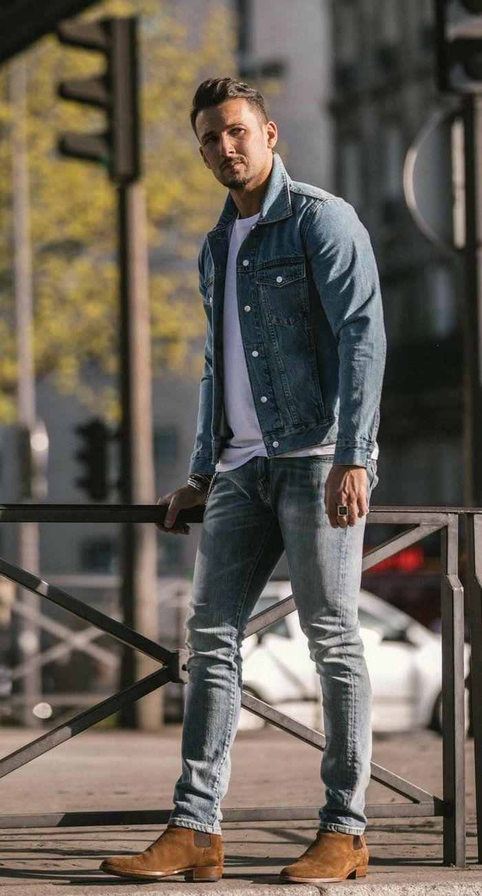 Gray T A Skinny Wash Jeans Denim Streetstyle White With Light Jacket FTclK1J