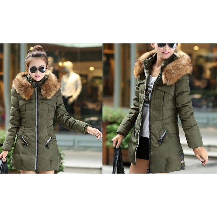 Women's Puffer Coat w/ Removable Fur Hood 3 Colours | Buy New Arrivals