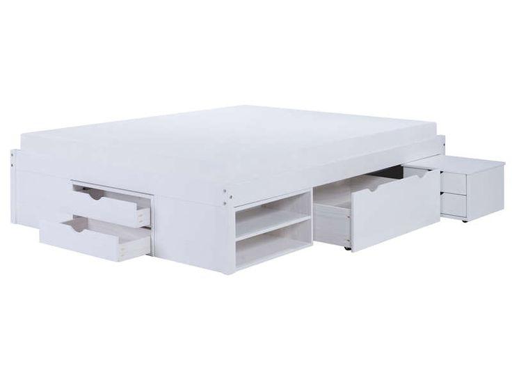 Best 25 lit 140x190 ideas on pinterest lit 140 lit 140x190 avec rangement - Encadrement de lit conforama ...