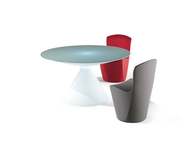 WWW.GIBRALTARFURNITURE.COM 800 416-3635   Slide is a  revolutionary brand is made in Italy and was established  in 2002. SLIDE benefits from over 20 years of experience in manufacturing plastic resins, acquired through earlier production experiences in the housewares and gardening sectors.