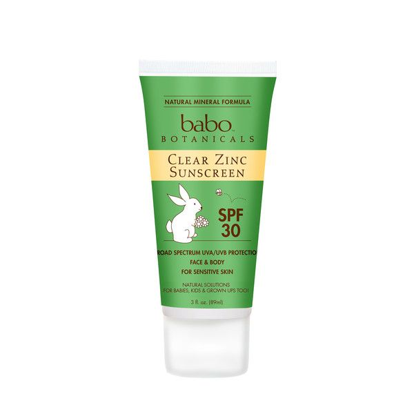 Clear Zinc Sunscreen This is perfect for kids: It's gluten-free, vegan, and hypo-allergenic and is really easy to rub in, meaning you can beg enough patience from your toddler. 3 fl