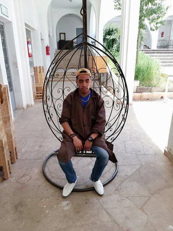 Moroccan Hammock Chair Hammock Chair Swing Hanging Wrought Iron Outdoor Garden Patio Furniture Bohemian Decor Moroccan Decor Swinging Chair Hammock Chair Hammock Swing Chair