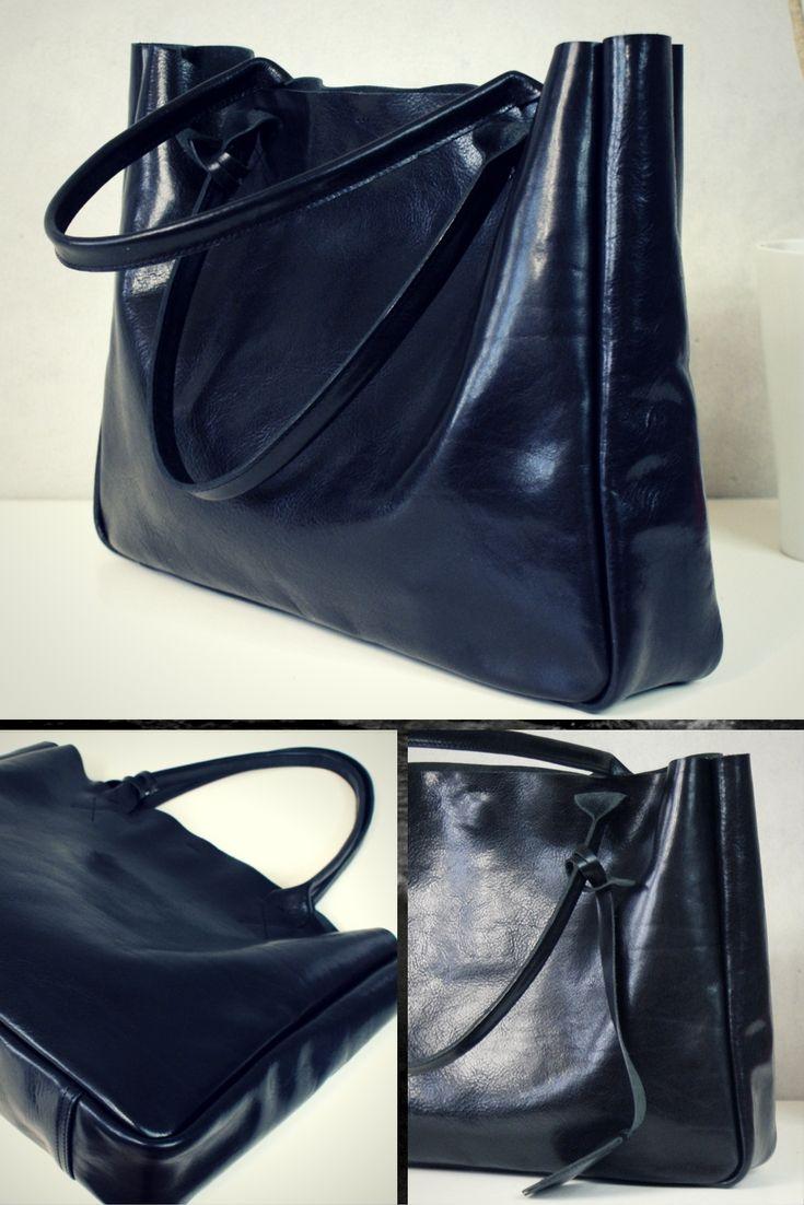 Handmade Black Leather Bag #leatherbag #handmade