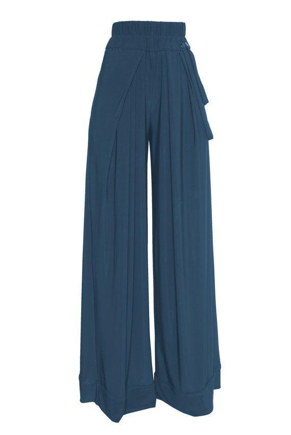 Wide leg high waist  pant  /in beige  by DesperatelyDifferent, $90.00