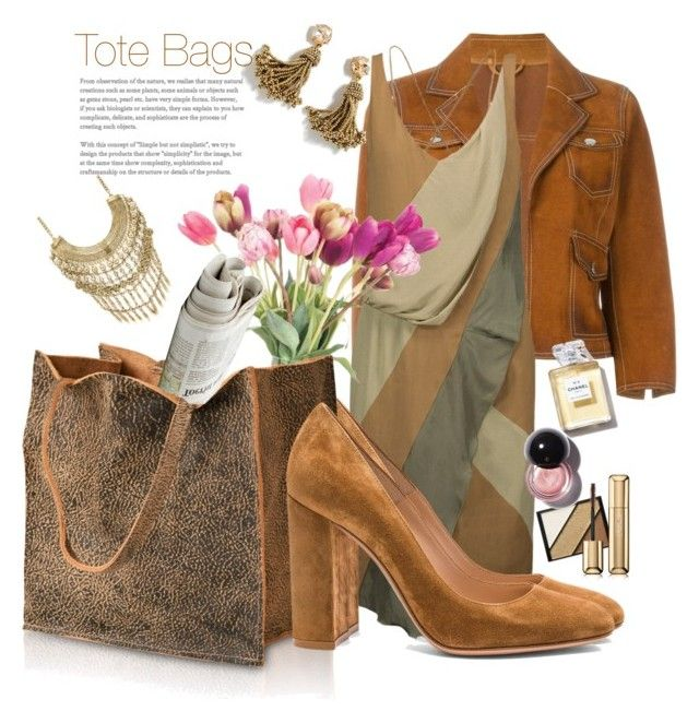 """""""Tote Bags"""" by marionmeyer on Polyvore featuring Dsquared2, Belstaff, Gianvito Rossi, NDI, Marabelle, J.Crew, Elizabeth Arden, Guerlain and totebags"""