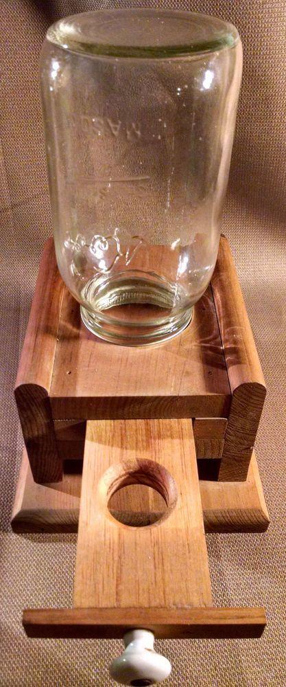 Vintage Wooden Mason Jar Gumball / Candy / Nut Dispenser #Handmade | Glenn's | Pinterest | Jars ...