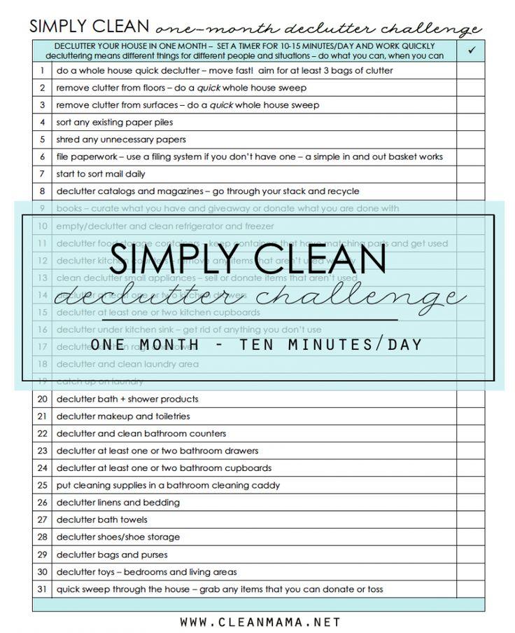 Week 1 - Simply Clean Declutter Challenge - Clean Mama