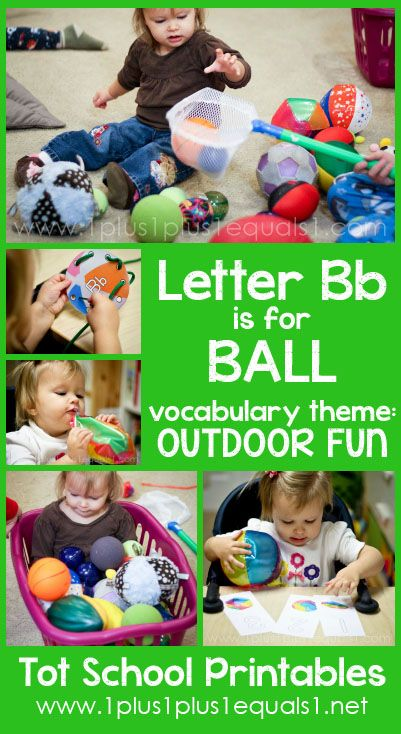 Tot School Printables Letter B is for Ball ~ a free program for toddlers from @{1plus1plus1} Carisa #totschool