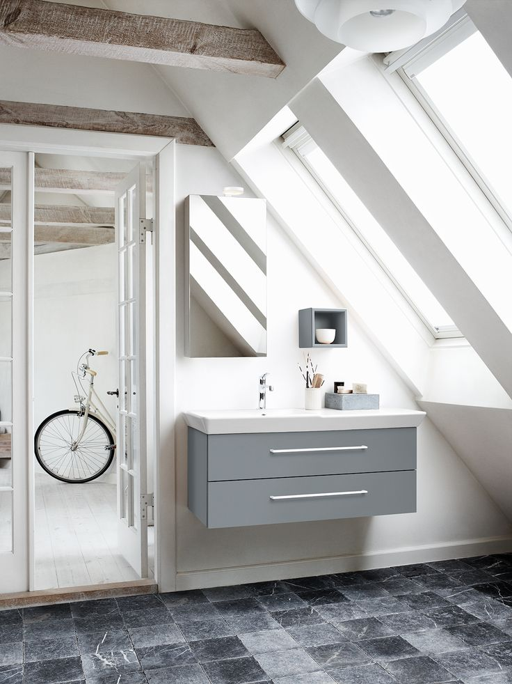 An asymmetrical washbasin allows you to furnish your room in a beautiful  and functional style, even if space is limited.