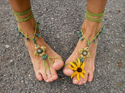 barefoot: Flowers Children, Hippie, Summer Shoes, Anklet, Flowers Power, Photos Shoots Props, Feet Jewelry, Beaches Wedding, Bohemian Gypsy