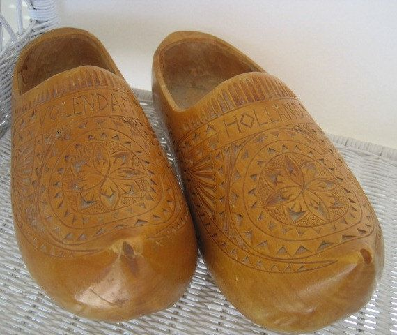 Dutch Holland Wooden Shoes Wearable Adult Wooden by ReneesRetro, $39.00