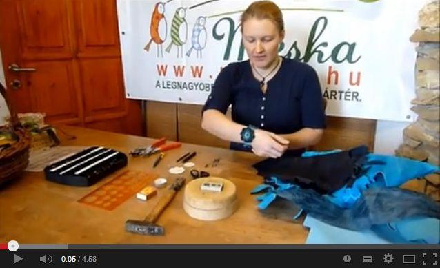 Kézműves Meska Bőr karkötő készítése youtube video
