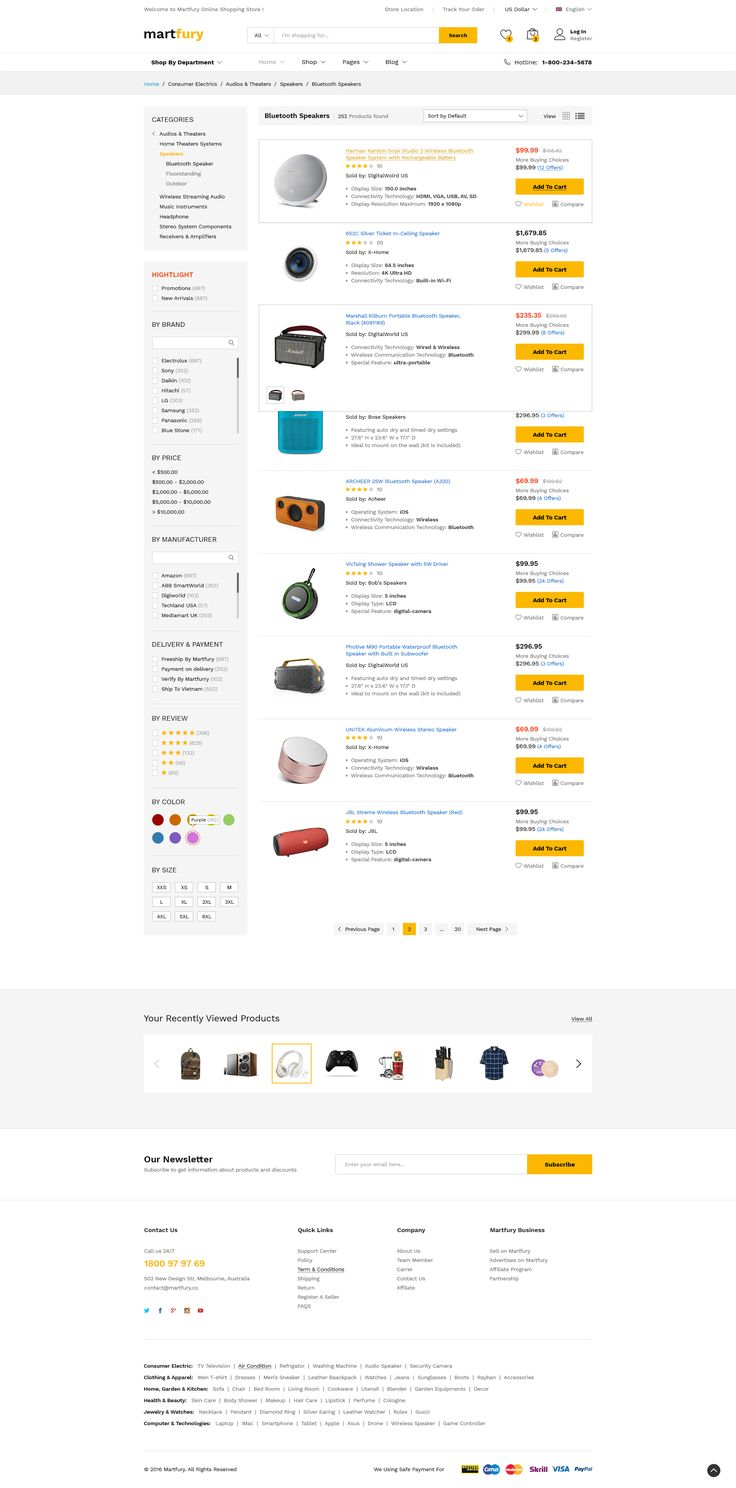 MartFury MultiVendor & Marketplace PSD
