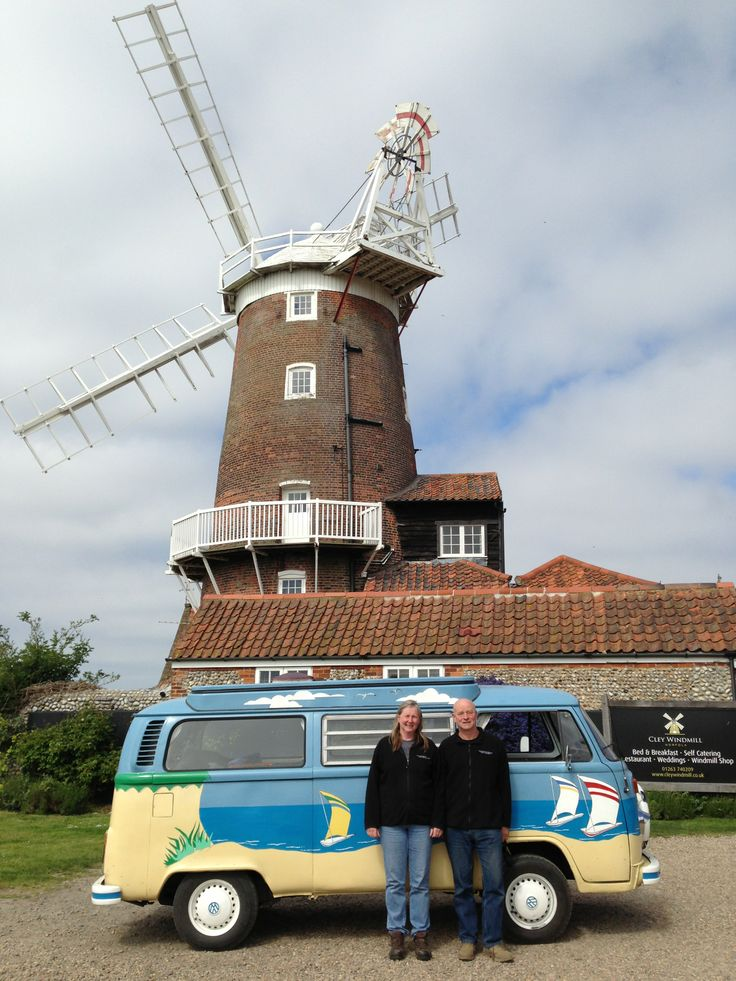 This is Mr Blue Sky in Cley, ready to be filmed for Grandpa in my pocket