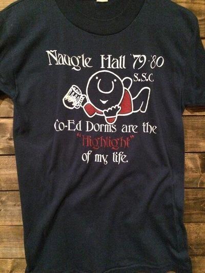 1979 Ziggy Naugle Hall Co-Ed Dorms Mesiah College Tee