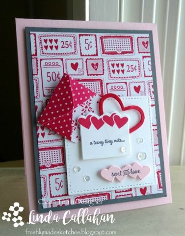 There is so much to love about the new Sealed With Love stamp set, coordinating dies and designer paper that I just had to put asid...