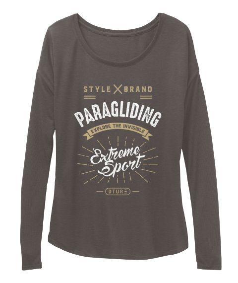 Paragliding T Shirt Dark Grey Heather T-Shirt Front