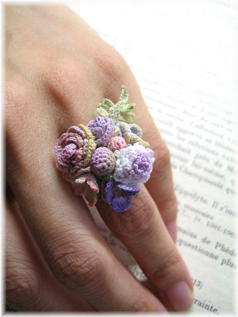 Miniature crochet accessories.レース編みアクセサリー ルナヘヴンリィ